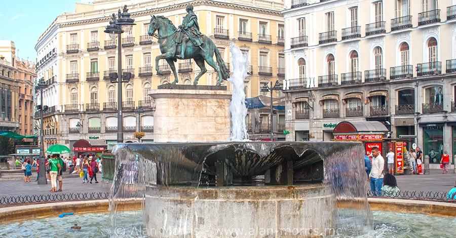 A square in Madrid.
