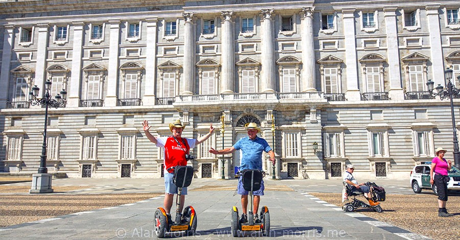 Alan Morris & Paul Dunne on segways in Madrid.