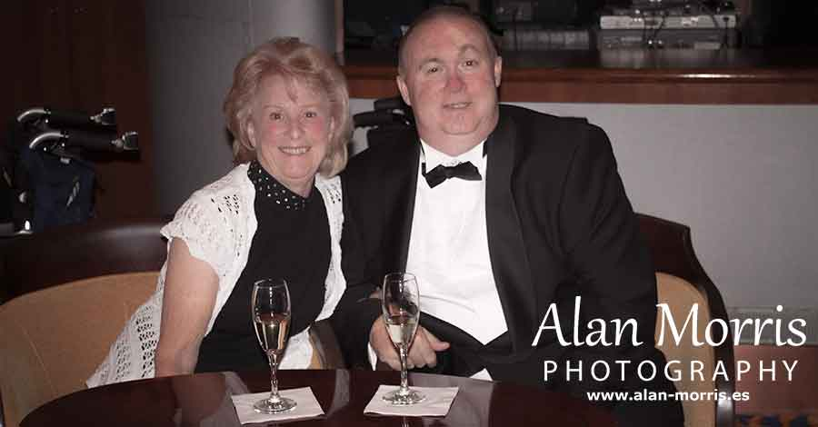 Alan & Jean Morris on the Queen Mary 2.
